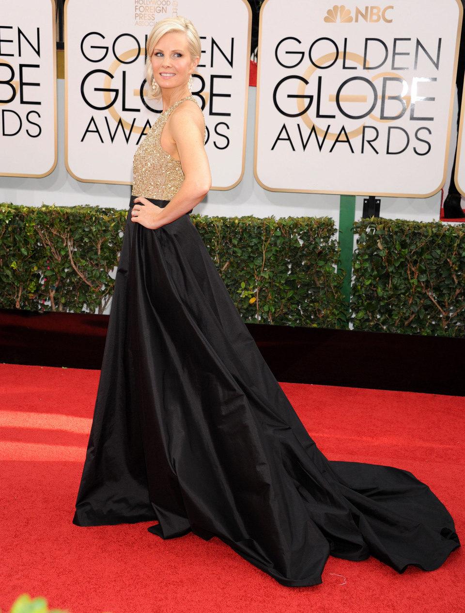 Monica Potter en los Globos de Oro 2014