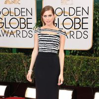 Allison Williams en los Globos de Oro 2014
