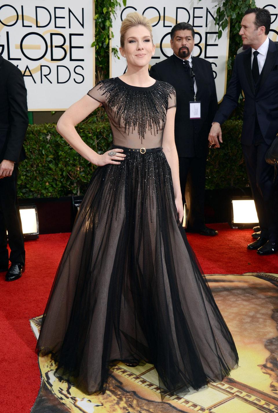Lily Rabe en los Globos de Oro 2014