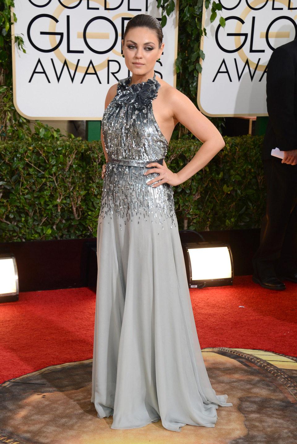 Mila Kunis en los Globos de Oro 2014
