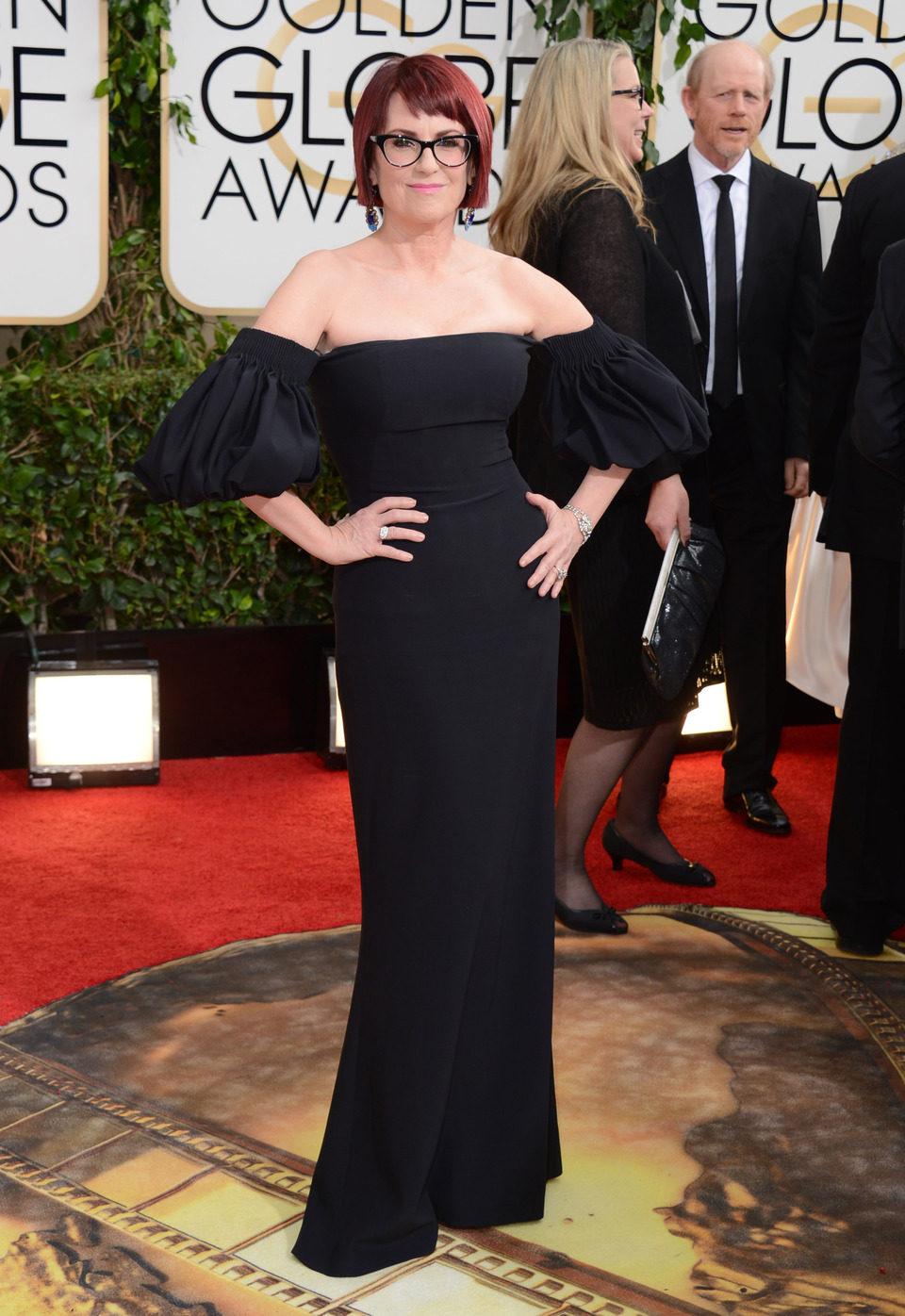 Megan Mullally en los Globos de Oro 2014