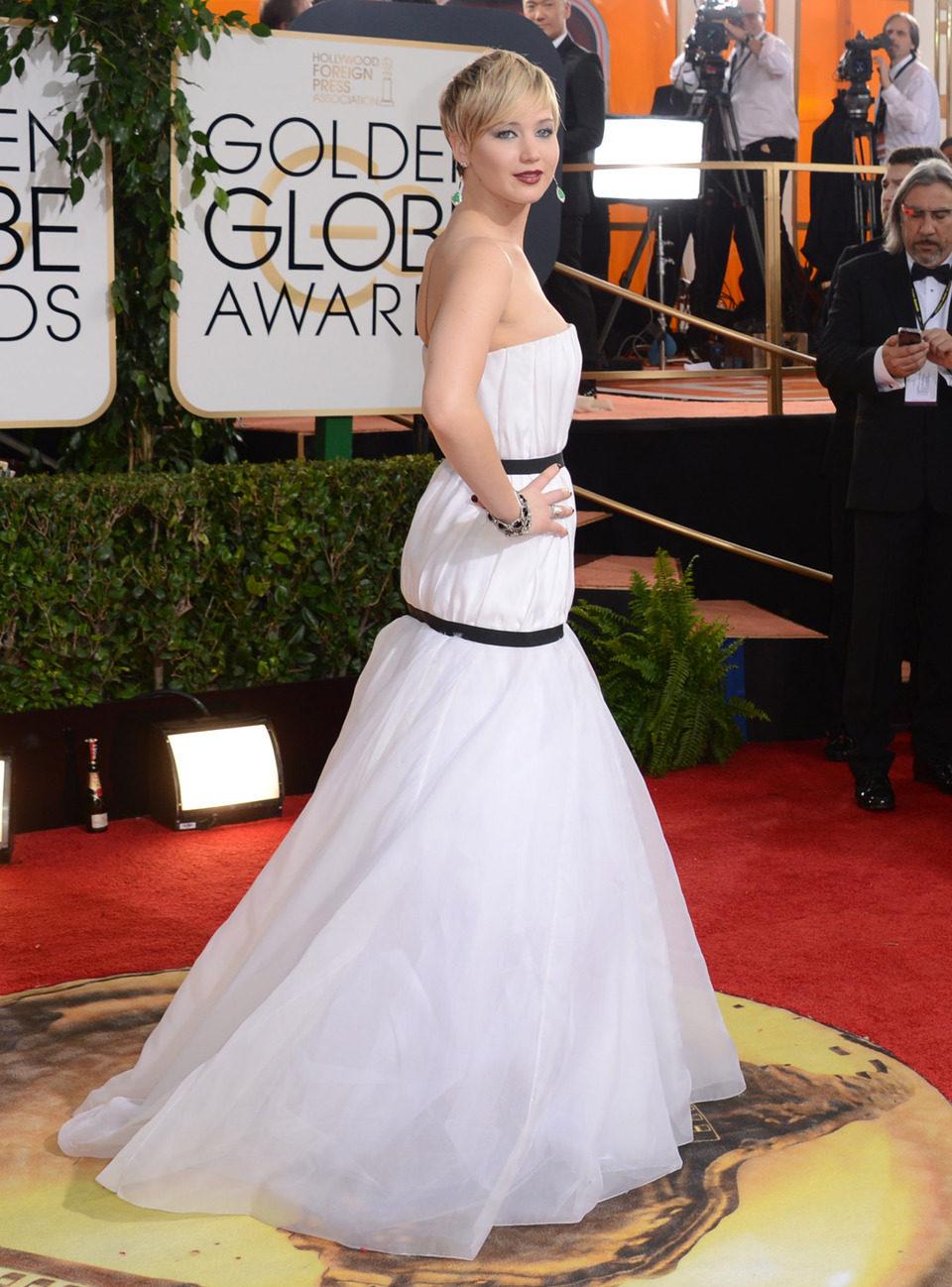 Jennifer Lawrence en los Globos de Oro 2014