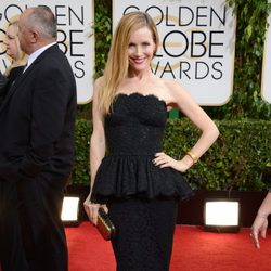 Leslie Mann en los Globos de Oro 2014
