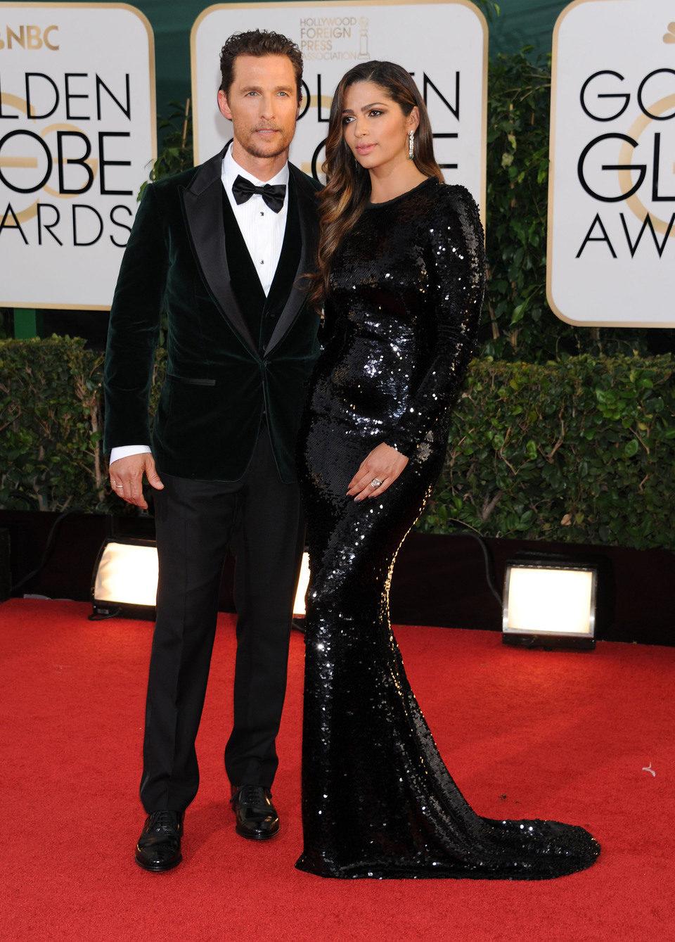 Matthew McConaughey y Camila Alves en los Globos de Oro 2014