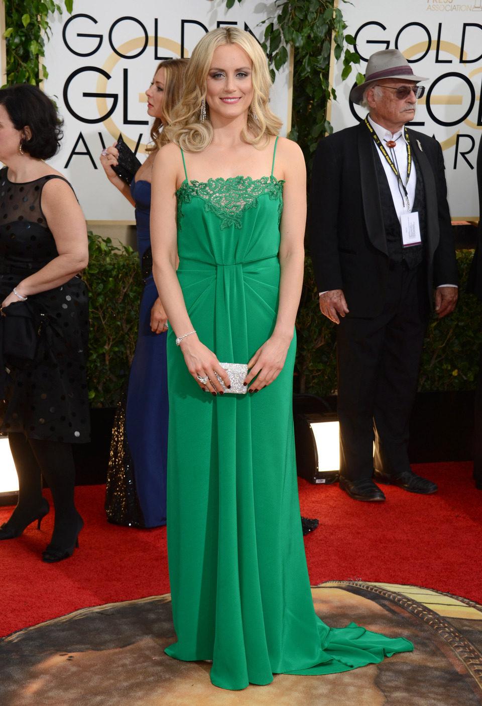 Taylor Schilling en los Globos de Oro 2014