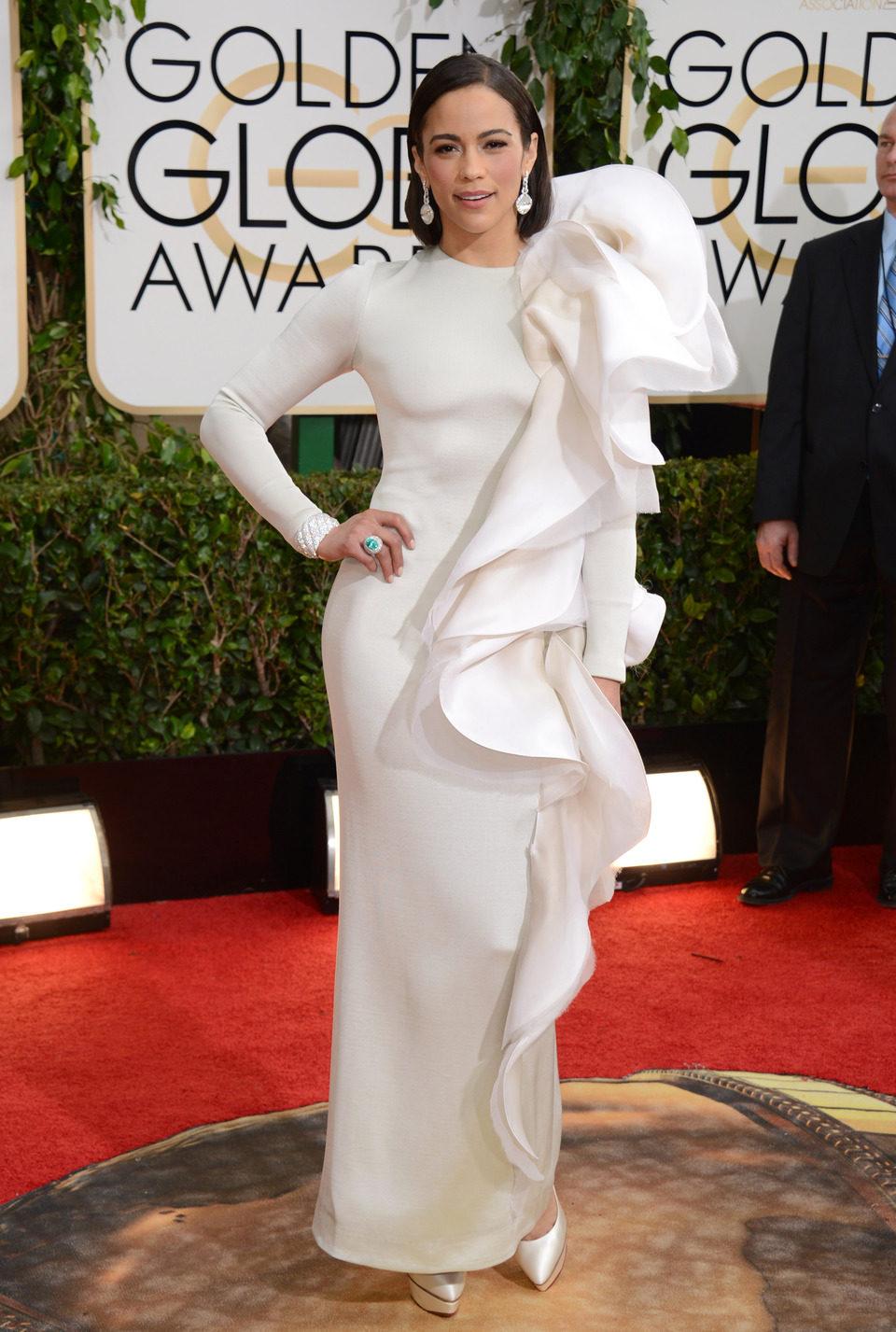 Paula Patton en los Globos de Oro 2014