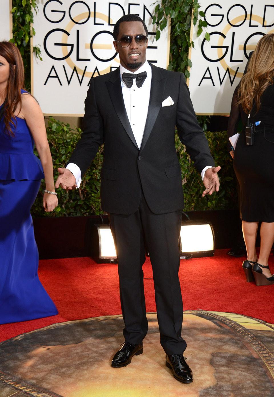 Sean Combs en los Globos de Oro 2014