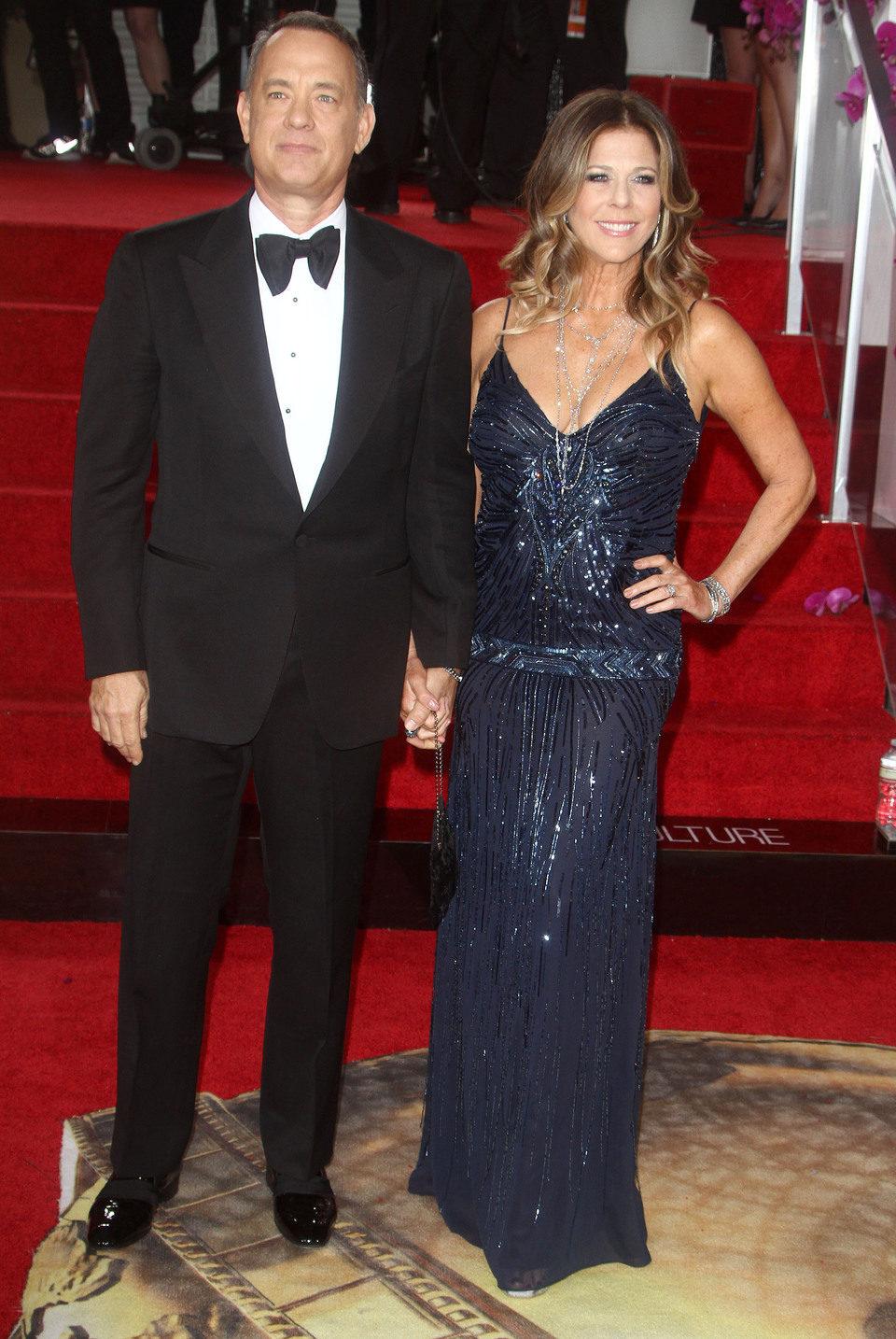 Tom Hanks en los Globos de Oro 2014