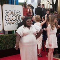 Gabourey Sidibe en los Globos de Oro 2014
