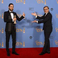 Christoph Waltz con Jared Leto, mejor actor de reparto en los Globos de Oro 2014