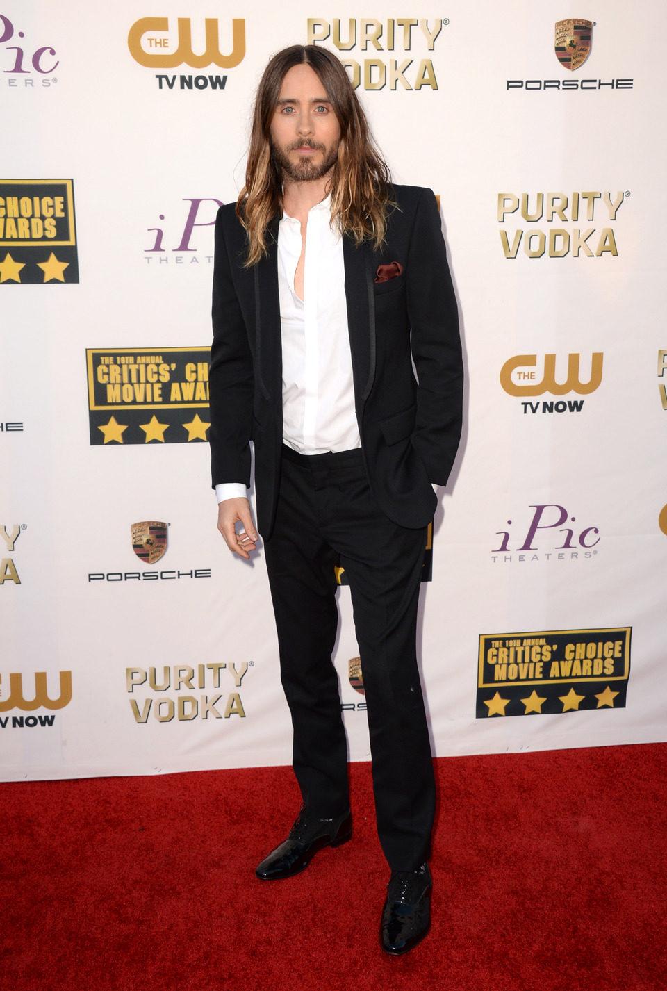 Jared Leto a su llegada a la gala de los Critics' Choice Movie Awards 2014