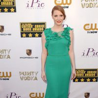 Jessica Chastain a su llegada a la gala de los Critics' Choice Movie Awards 2014