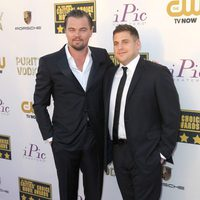Leonardo DiCaprio y Jonah Hill a su llegada a la gala de los Critics' Choice Movie Awards 2014