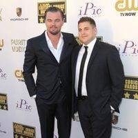Leonardo DiCaprio y Jonah Hill a su llegada a la gala de los Critics' Choice Movie Awards 2014