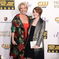 Emma Thompson a su llegada a la gala de los Critics' Choice Movie Awards 2014