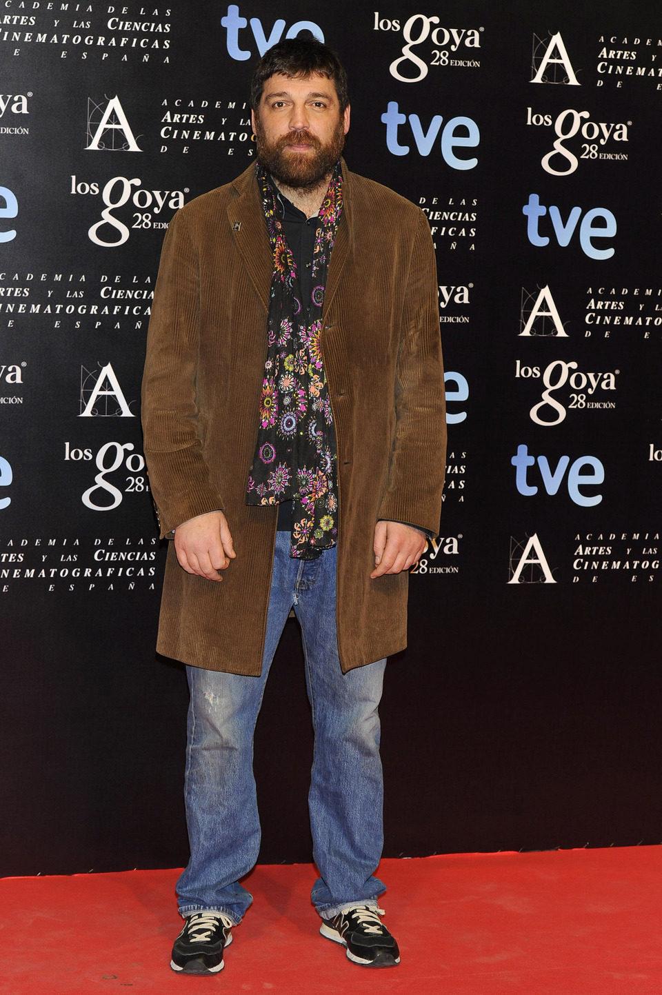 Hovik Keuchkerian en la alfombra roja de la fiesta de los nominados a los premios Goya 2014