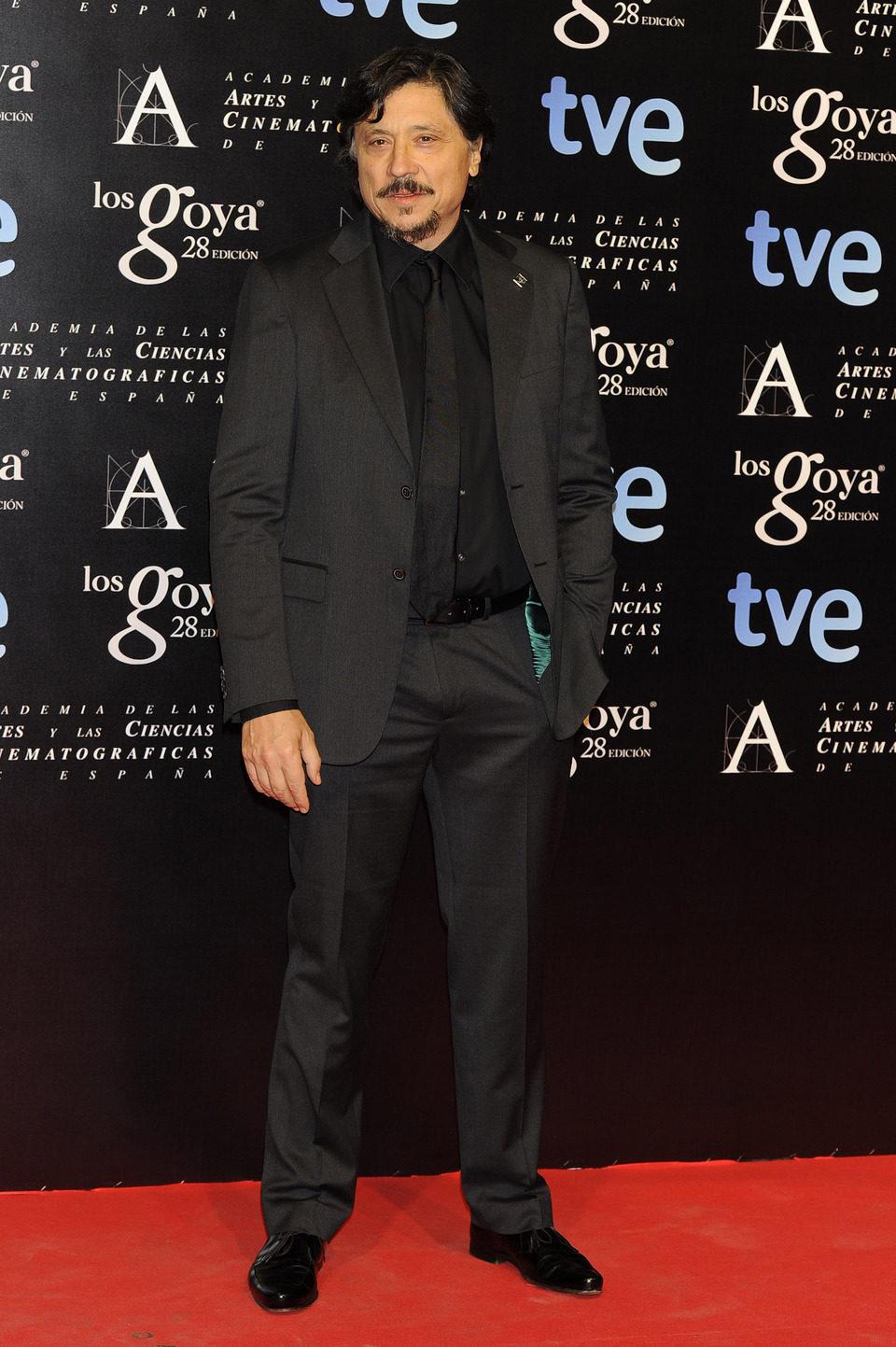 Carlos Bardem en la alfombra roja de la fiesta de los nominados a los premios Goya 2014