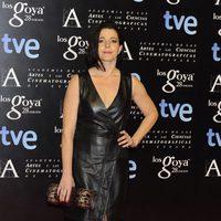 Nora Navas en la alfombra roja de la fiesta de los nominados a los premios Goya 2014