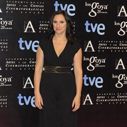 María Morales en la alfombra roja de la fiesta de los nominados a los premios Goya 2014
