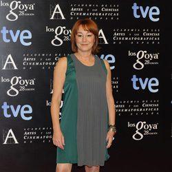 Gracia Querejeta en la alfombra roja de la fiesta de los nominados a los premios Goya 2014