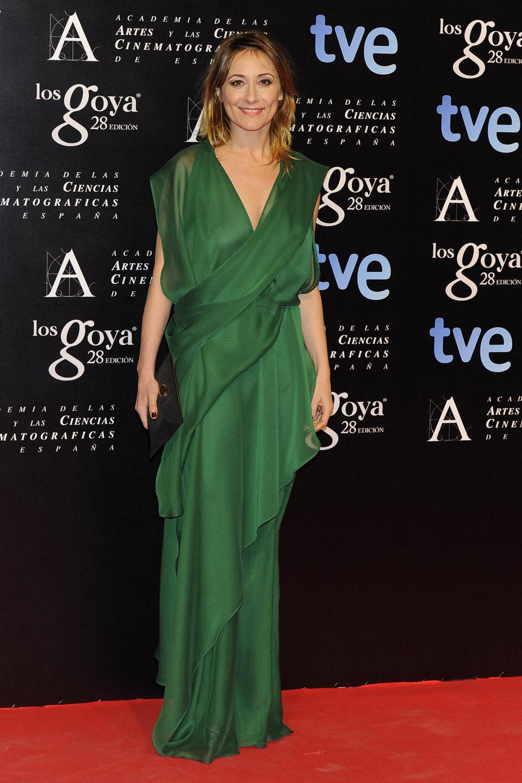 Nathalie Poza en la alfombra roja de la fiesta de los nominados a los premios Goya 2014