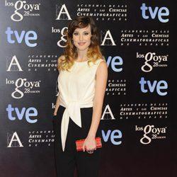 Natalia de Molina en la alfombra roja de la fiesta de los nominados a los premios Goya 2014