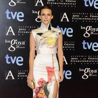 Aura Garrido en la alfombra roja de la fiesta de los nominados a los premios Goya 2014