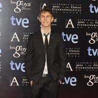 Patrick Criado en la alfombra roja de la fiesta de los nominados a los premios Goya 2014