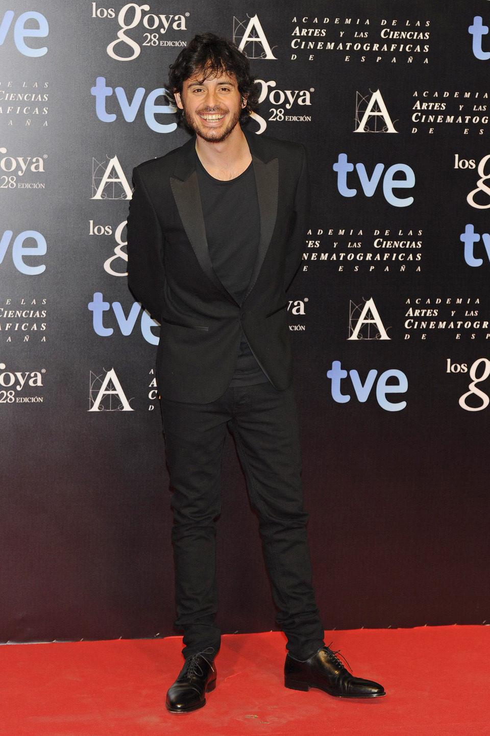 Javier Pereira en la alfombra roja de la fiesta de los nominados a los premios Goya 2014