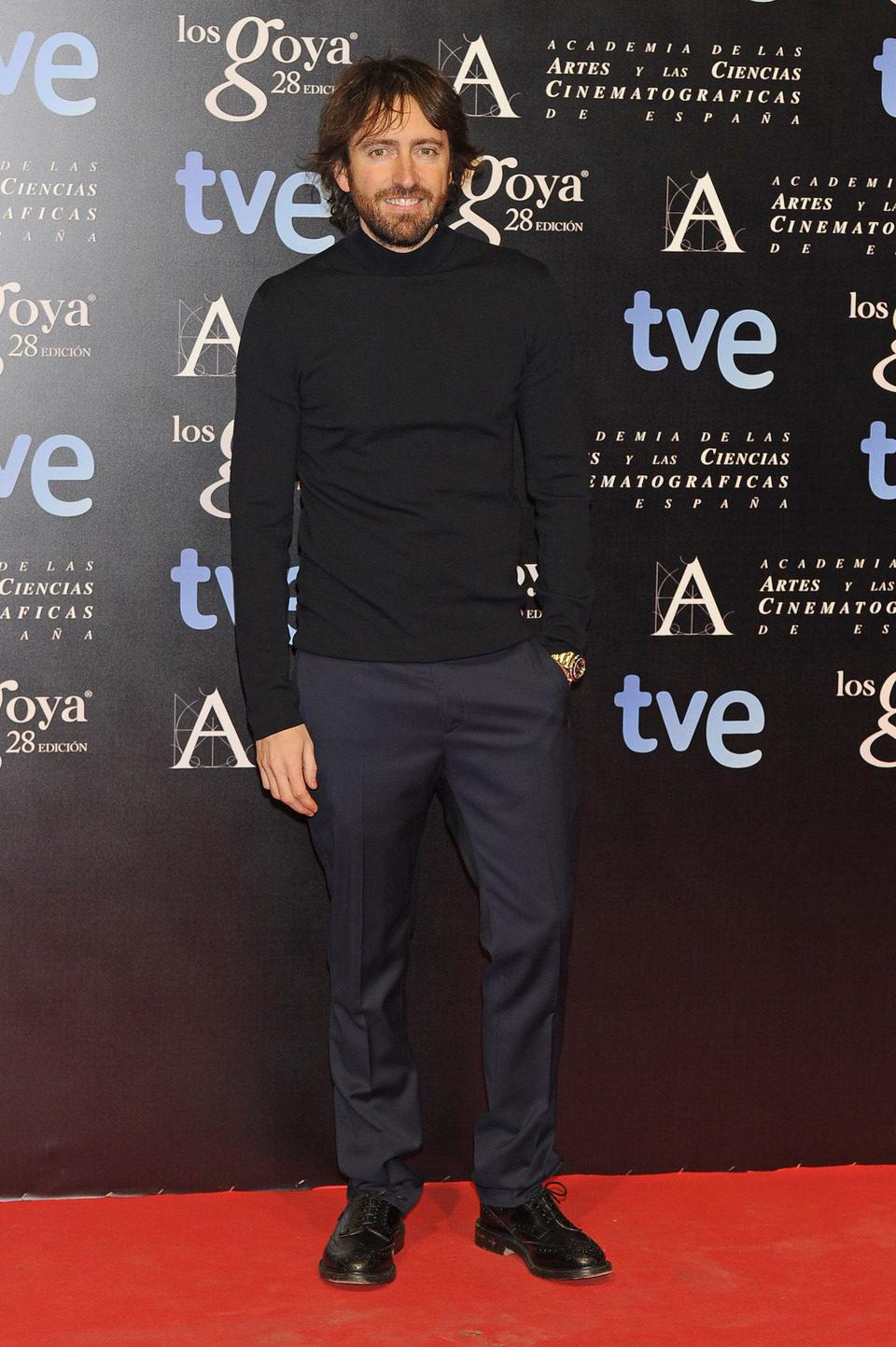 Daniel Sánchez Arévalo en la alfombra roja de la fiesta de los nominados a los premios Goya 2014