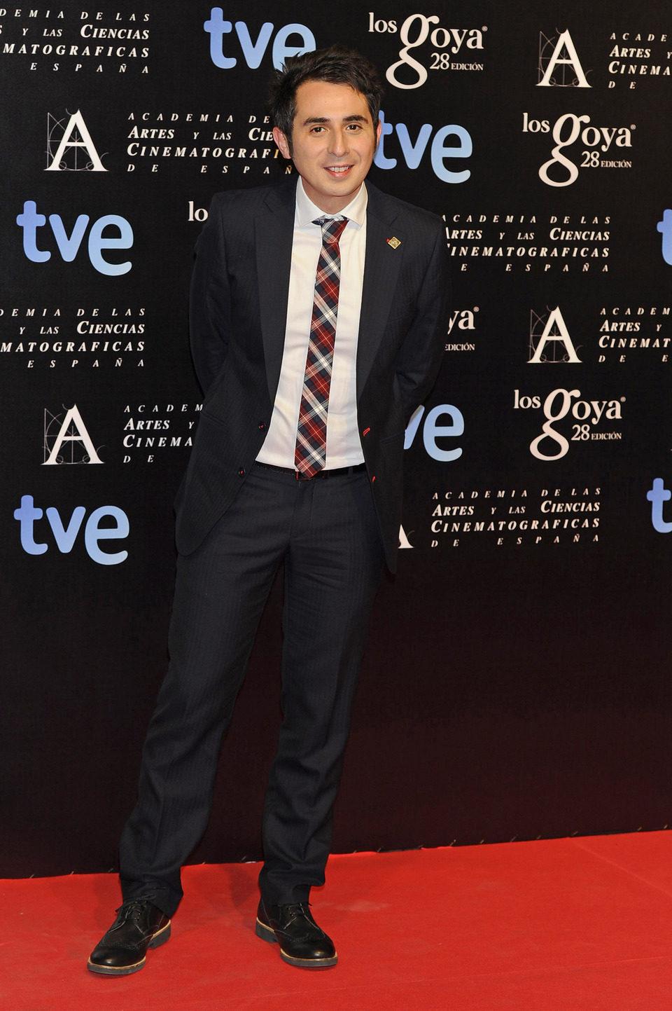 Berto Romero en la alfombra roja de la fiesta de los nominados a los premios Goya 2014