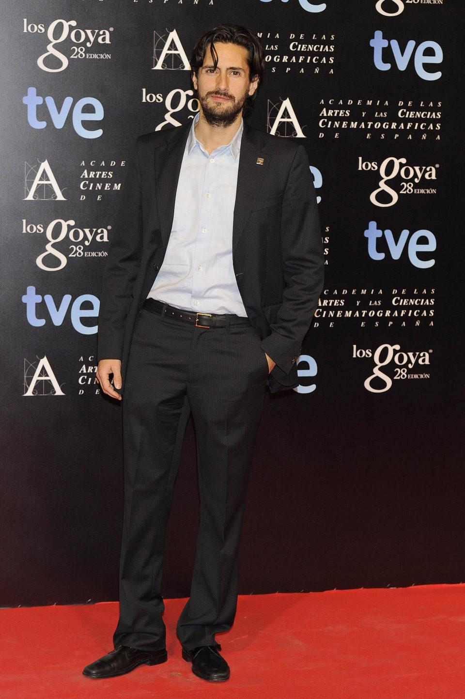 Juan Diego Botto en la alfombra roja de la fiesta de los nominados a los premios Goya 2014