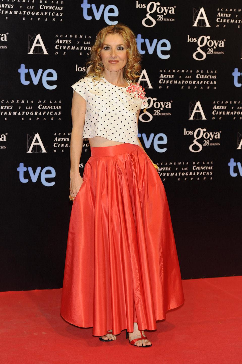Cayetana Guillén Cuervo en la alfombra roja de la fiesta de los nominados a los premios Goya 2014