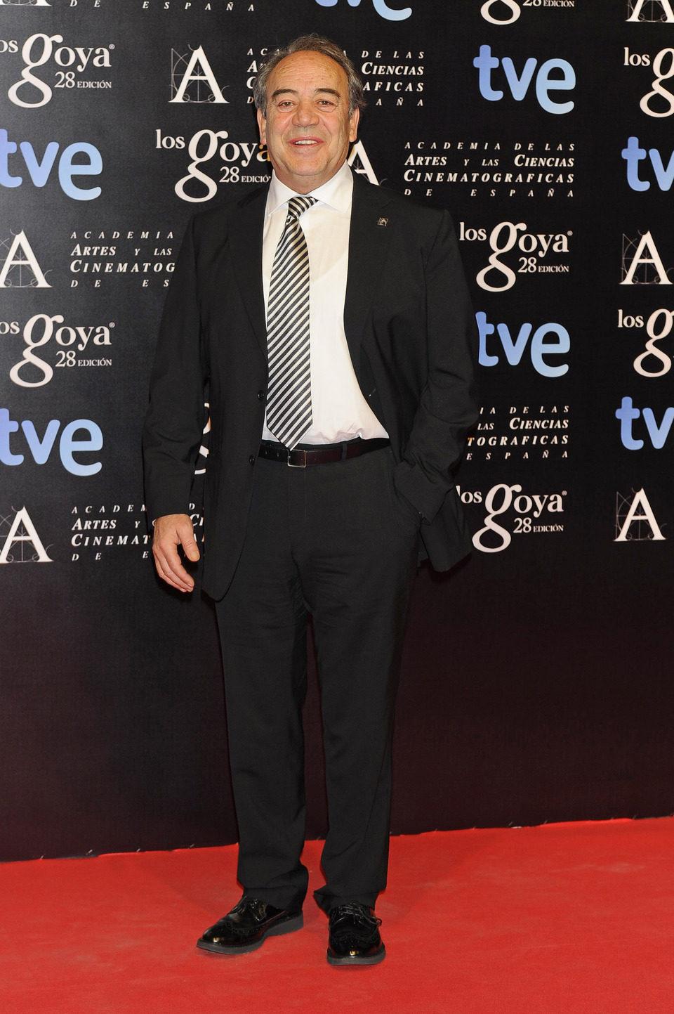 Tito Valverde en la alfombra roja de la fiesta de los nominados a los premios Goya 2014