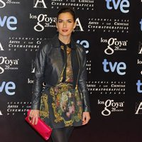 Belén López en la alfombra roja de la fiesta de los nominados a los premios Goya 2014