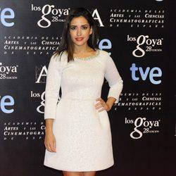 Inma Cuesta en la alfombra roja de la fiesta de los nominados a los premios Goya 2014