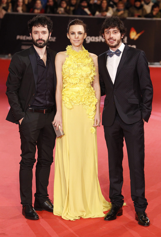 Ricardo Sorogoyen, Aura Garrido y Javier Pereira en los Premios Feroz 2014