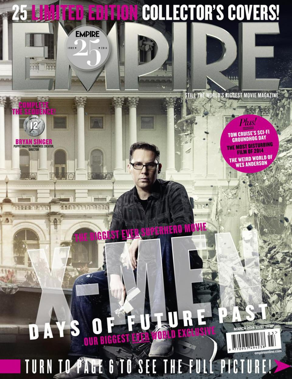Portada de Bryan Singer, director de 'X-Men: Días del futuro pasado'