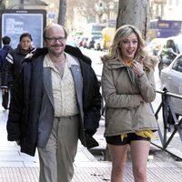 Santiago Segura y Anna Simon en le set de rodaje de 'Torrente 5'