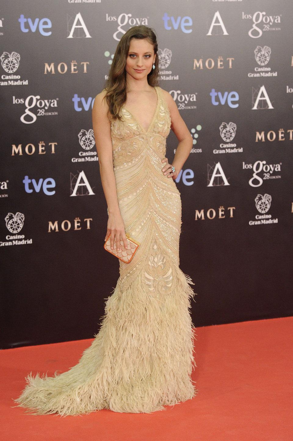 Michelle Jenner en la alfombra roja de los Goya 2014