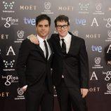 Ernesto Sevilla y Joaquín Reyes en la alfombra roja de los Goya 2014