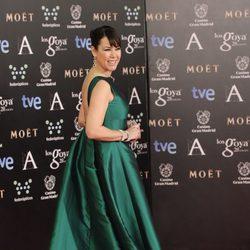 Mabel Lozano en la alfombra roja de los Goya 2014