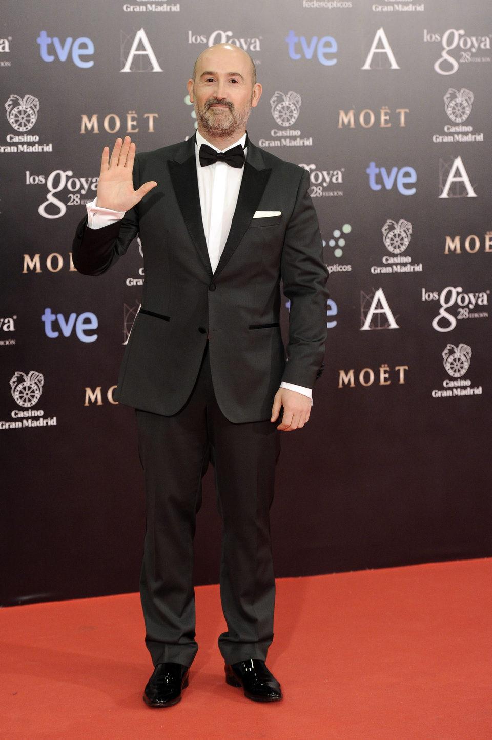 Javier Cámara en la alfombra roja de los Goya 2014