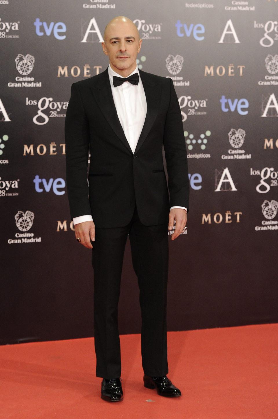 Roberto Álamo en la alfombra roja de los Goya 2014