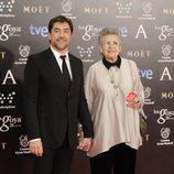Javier Bardem y Pilar Bardem en los Goya 2014