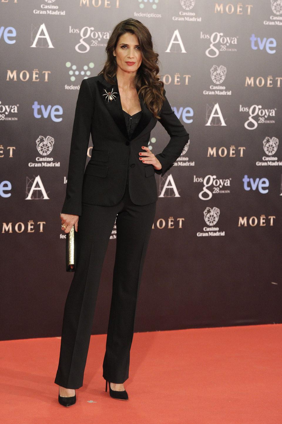 Elia Galera en la alfombra roja de los Premios Goya 2014