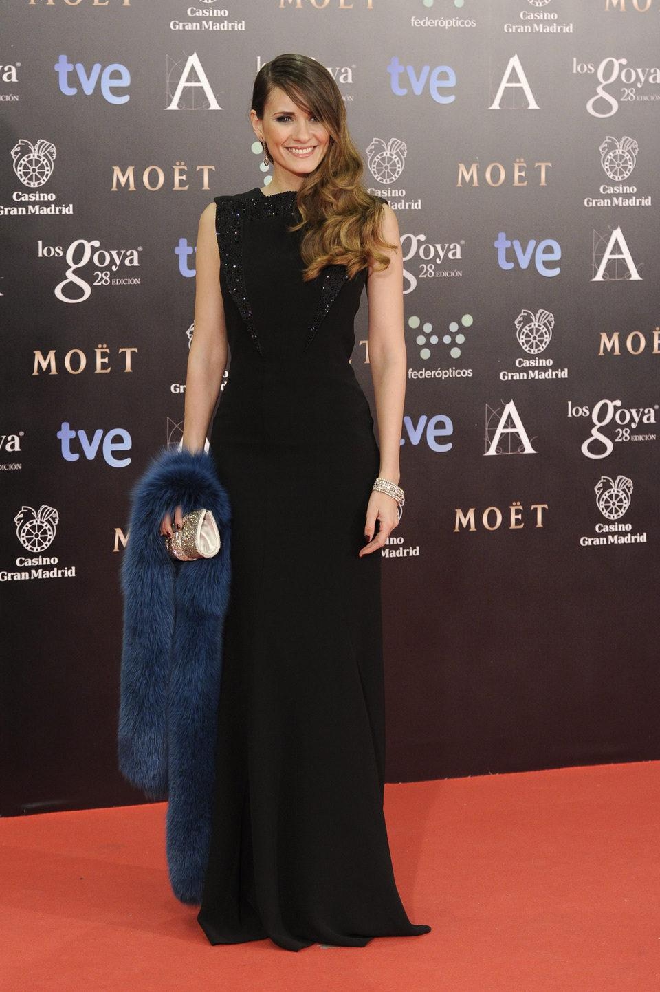 Elena Ballesteros en la alfombra roja de los Goya 2014