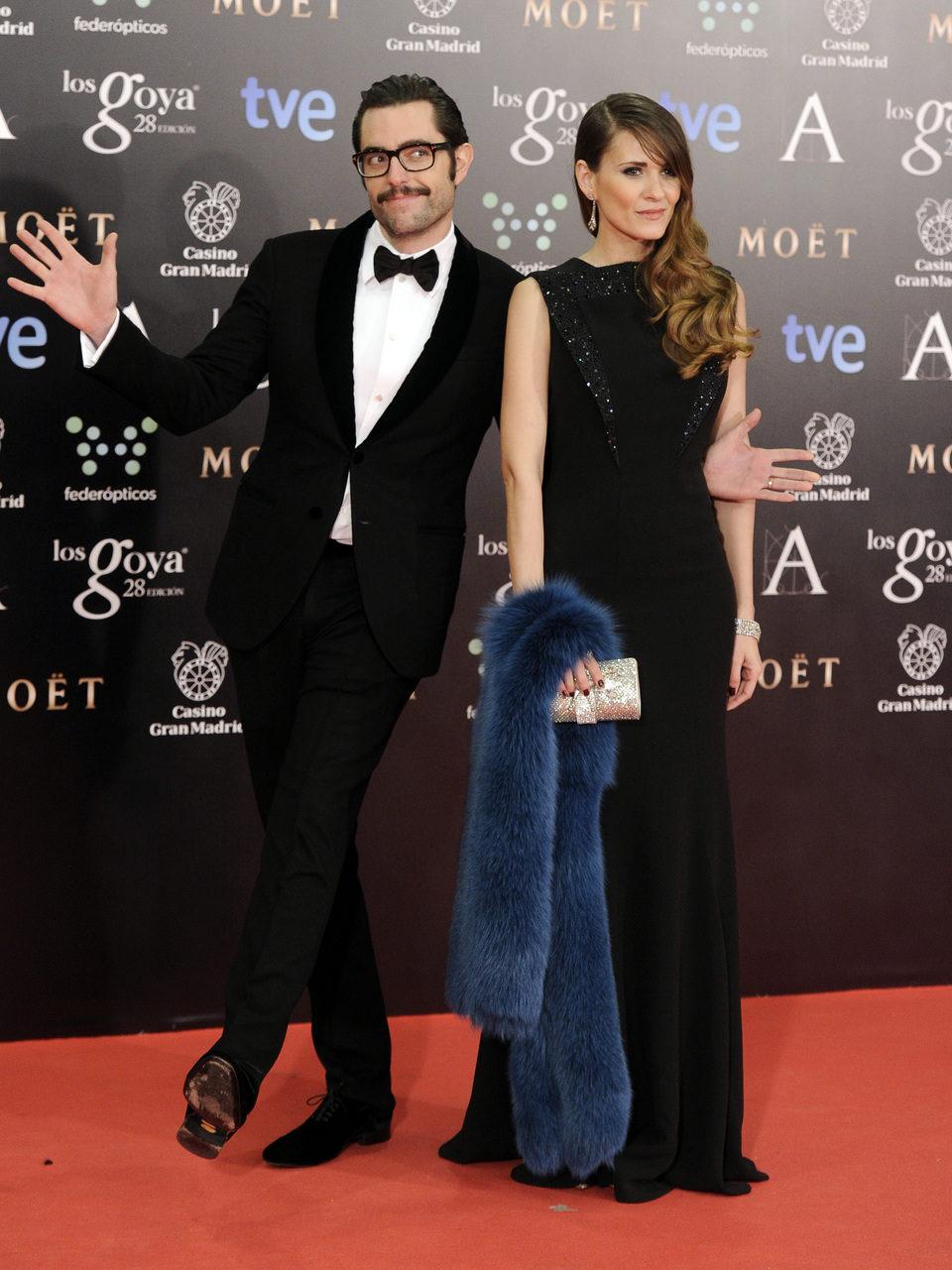 Elena Ballesteros y Dani Mateo en los Goya 2014