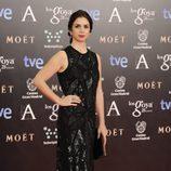 Elena Furiase en la alfombra roja de los Goya 2014