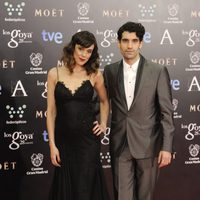 Tamar Novas en la alfombra roja de los Goya 2014